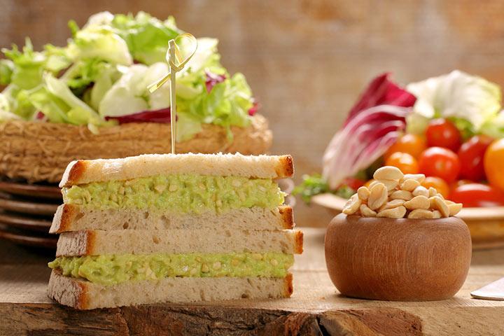 Avocado and sweet potato sandwich