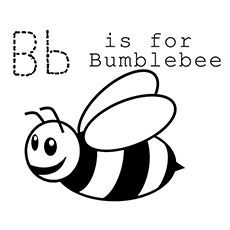 B for Bumblebee Coloring Pages