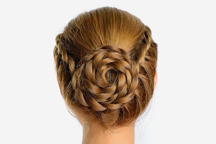 Haircuts For Teenage Girls - Braided Bun Hair Style