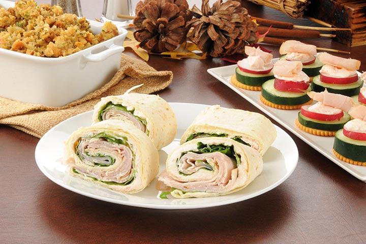 Healthy Snacks For Teens - Buffalo Chicken Pinwheels