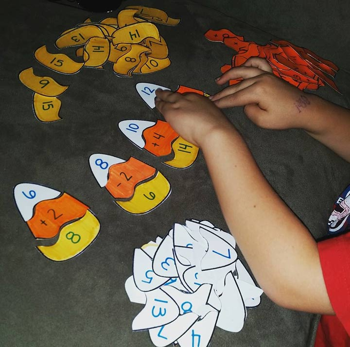 Candy corn subtraction