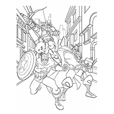 Captain America Coloring Pages - Captain America In Avengers