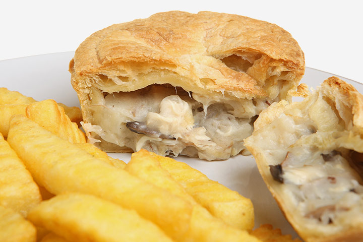 Healthy Snacks For Teens - Chicken And Mushroom Torta