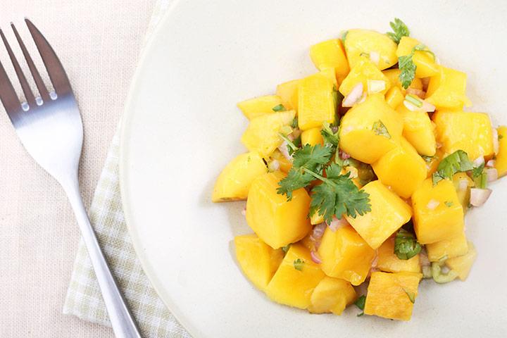 Mango For Kids = Chili Mango Salad