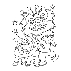chinese new year celebrations to color - Chinese New Year Coloring Pages