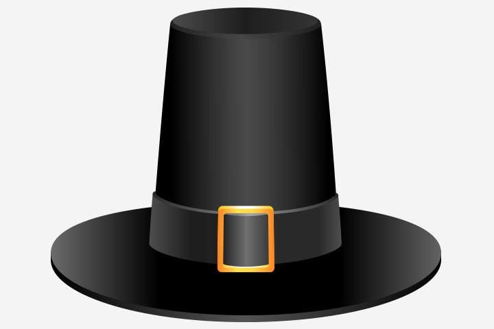 Thanksgiving Activities For Kids - Coffee Can Pilgrim Hat