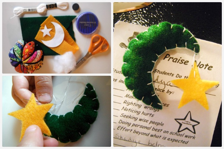 Ramadan Crafts - Crescent Moon Magnet