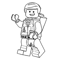 lego movie emmet coloring pages - Lego Movie Coloring Page