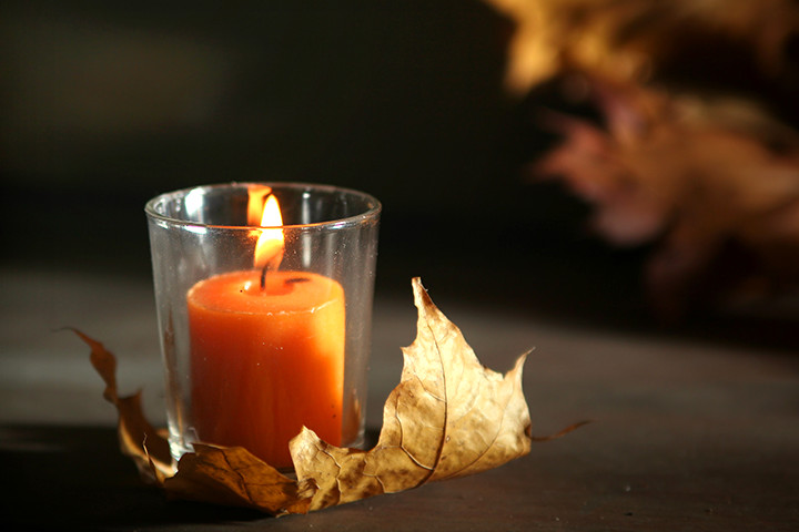 Thanksgiving Crafts For Kids - Fall Candle Holder