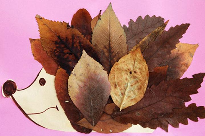Leaf activities - Fall Leaf Hedgehog