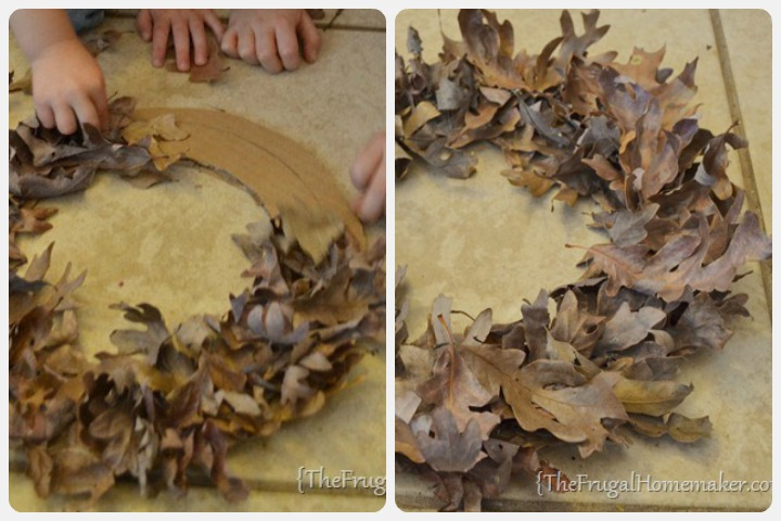 Leaf activities - Fall Leaf Wreath