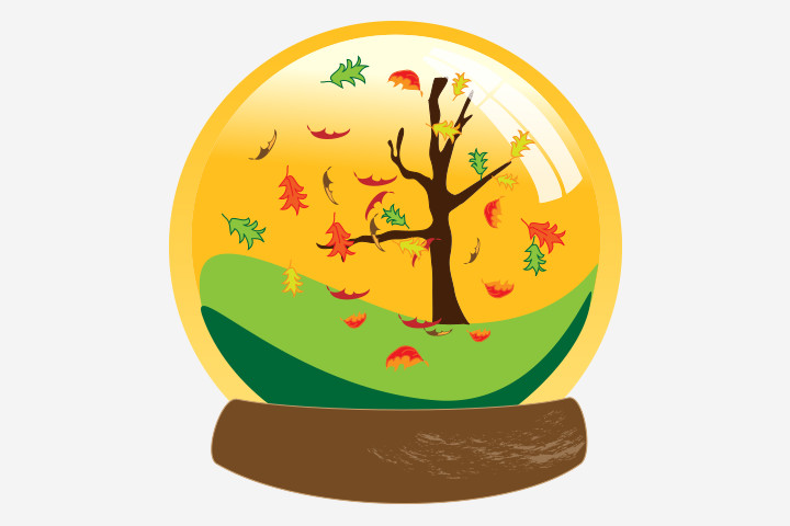 Thanksgiving Crafts For Kids - Fall Tree Globe