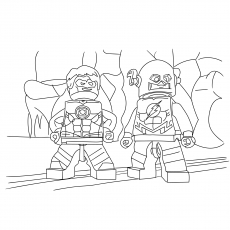 Coloring Pages Flash Character from Lego Movie