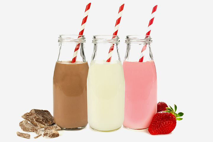 Snack Recipes For Kids - Flavored Milk
