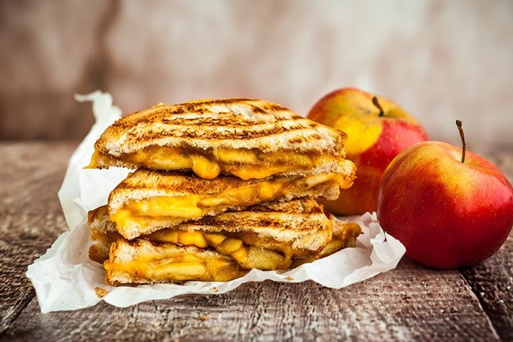 Healthy Snacks For Teens - Grilled Apple And Cheese Sandwich