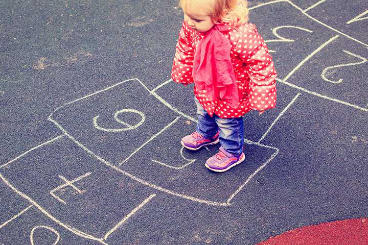Halloween Games For Toddlers - Halloween Hopscotch