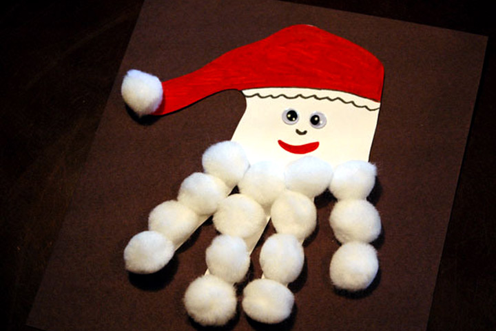 Christmas Crafts For Toddlers - Handprint Santa