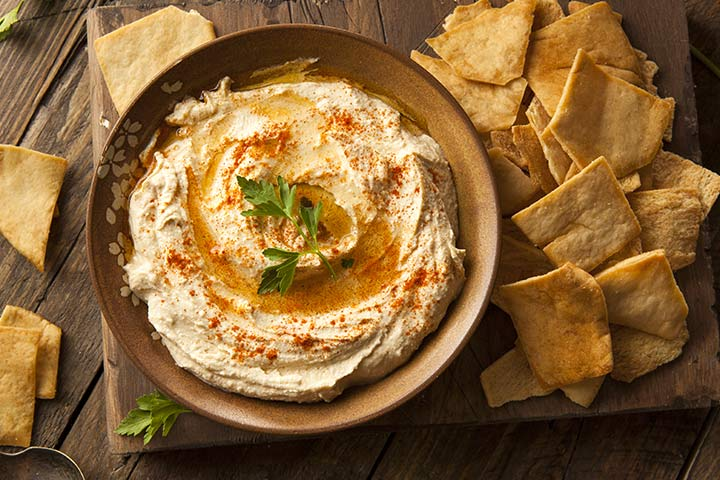Healthy Snacks For Teens - Hummus With Pita Chips