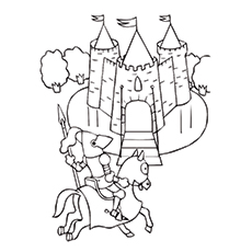 knights and castle coloring sheet printable - Knight Coloring Pages