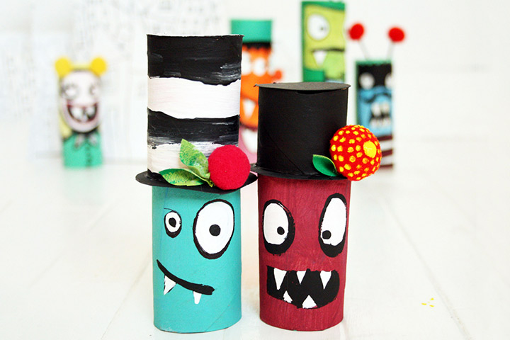 25 creative out of waste material crafts for kids for Things made from waste