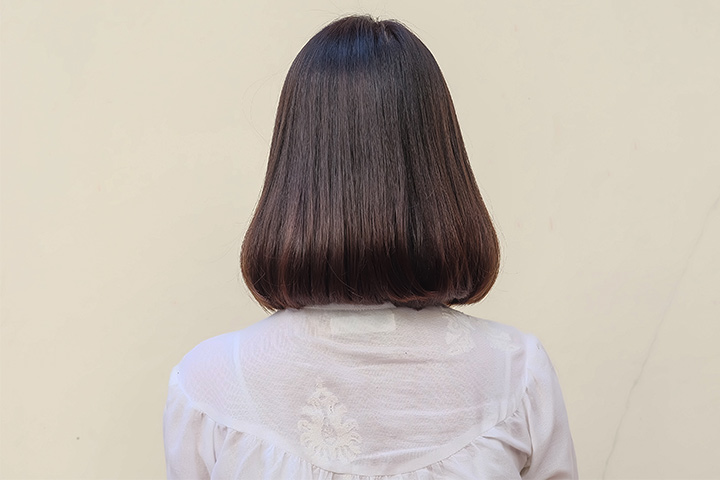 Long bob with round edges