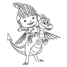 mike the knight - Knight Coloring Pages