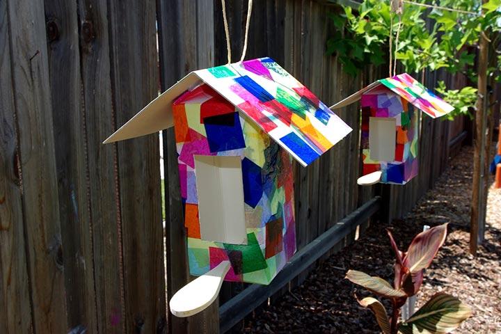 Waste Material Craft Ideas - Milk Carton Bird House
