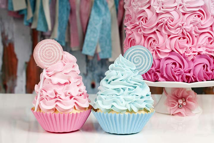 Baby Shower Ideas - Mini Cupcakes Instead Of Cake