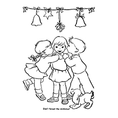mistletoe new years fruits coloring sheets