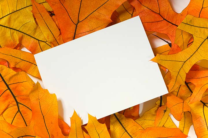 Thanksgiving Crafts For Toddlers - Nature Notecard