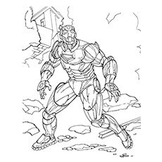 Captain America Coloring Pages - Nick Fury