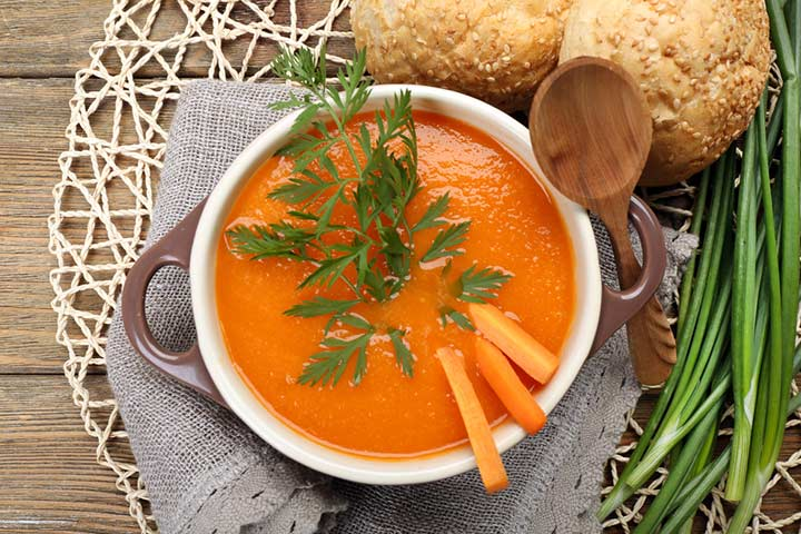 Onion and carrot soup