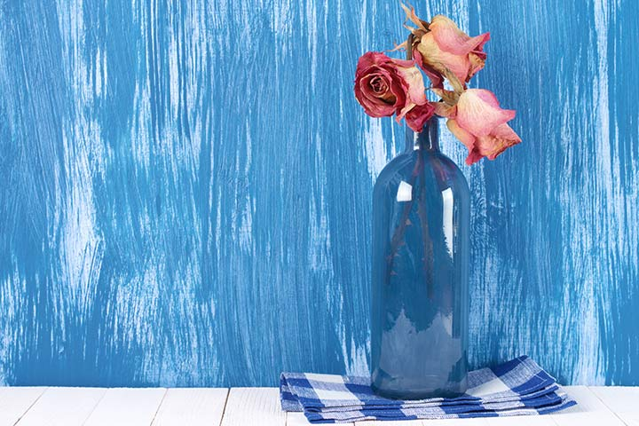 Waste Material Craft Ideas - Painted Bottles