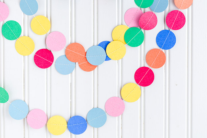 Waste Material Craft Ideas - Paper Garland