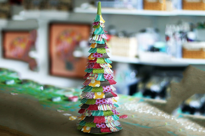 Christmas Crafts For Toddlers - Paper Mache Christmas Trees