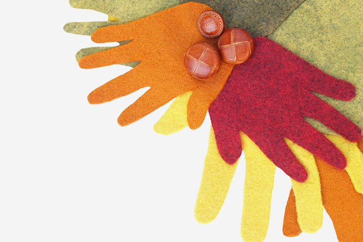 Thanksgiving Crafts For Toddlers - Thanksgiving Hand Wreath