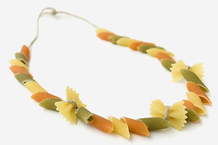 Thanksgiving Crafts For Toddlers - Pasta Necklace