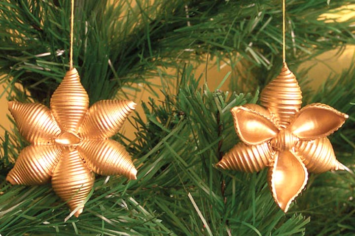 Christmas Crafts For Toddlers - Pasta Tree Ornaments