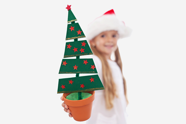 Christmas Crafts For Toddlers - Pipe Cleaner And Card Paper Christmas Card