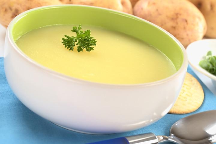 Potato and cream soup