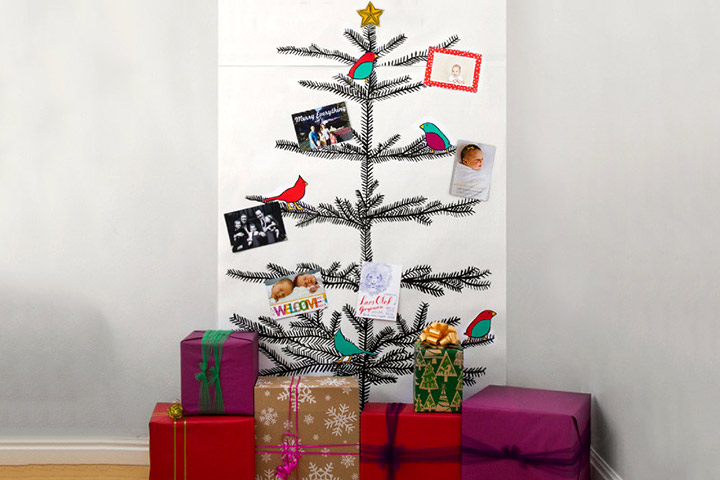 Christmas Crafts For Toddlers - Printed Christmas Tree With Handmade