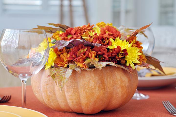 Pumpkin Crafts - Pumpkin Centerpiece