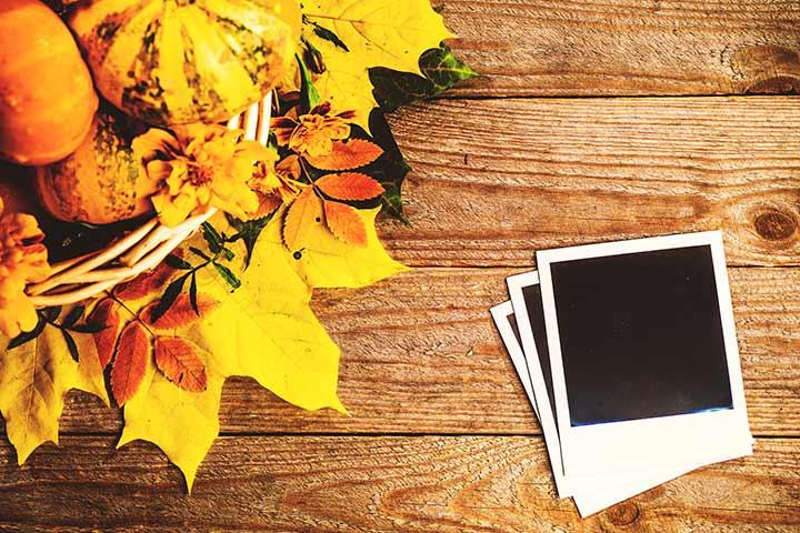 Thanksgiving Activities For Kids - Pumpkin Photo Display