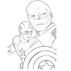 captain america coloring pages red skull