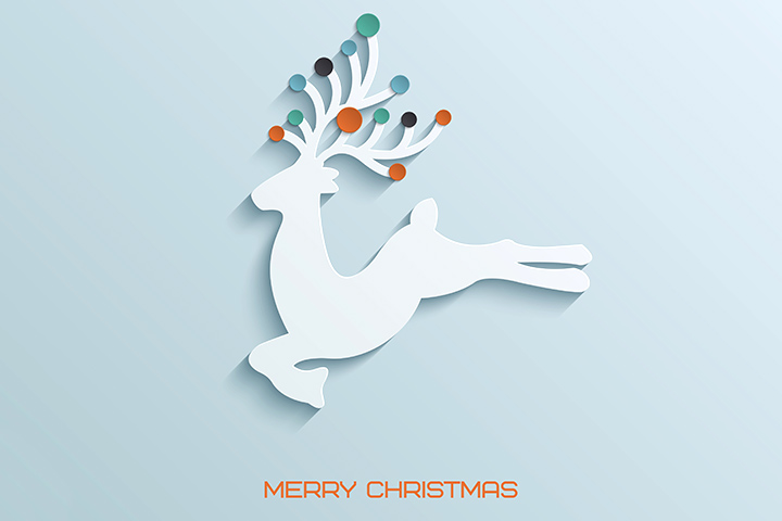 Christmas Card Ideas For Kids - Reindeer Card