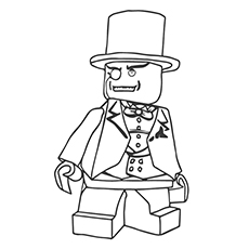 Coloring Page Of Ringmaster From The Movie Lego Printables