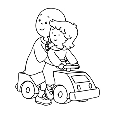 top 10 caillou coloring pages for toddlers - Caillou Gilbert Coloring Pages