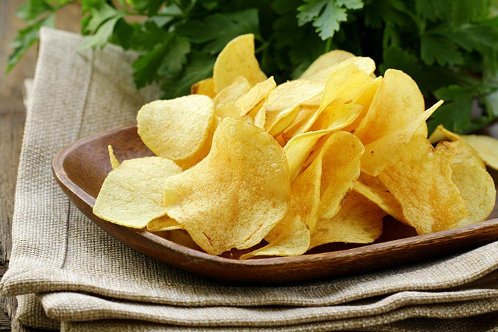 Snack Recipes For Kids - Sesame Potato Chips