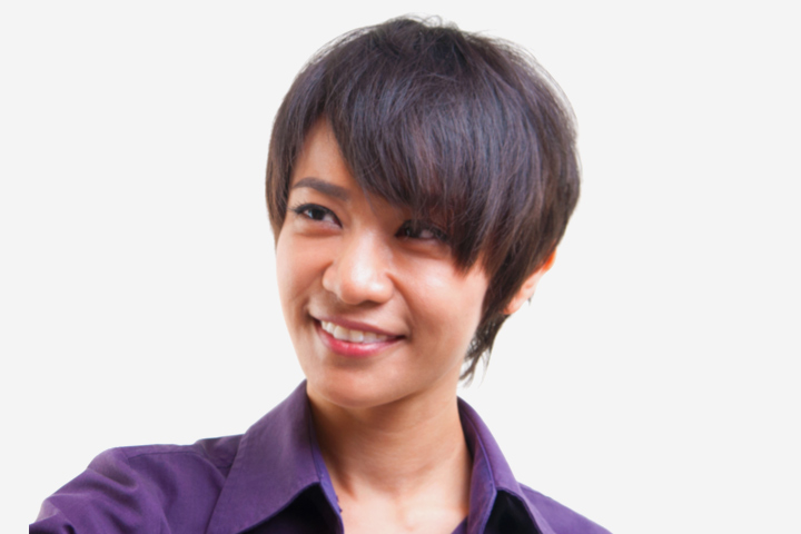 Short Hairstyles For Teens - Short Cropped Hair With Long And Full Bangs
