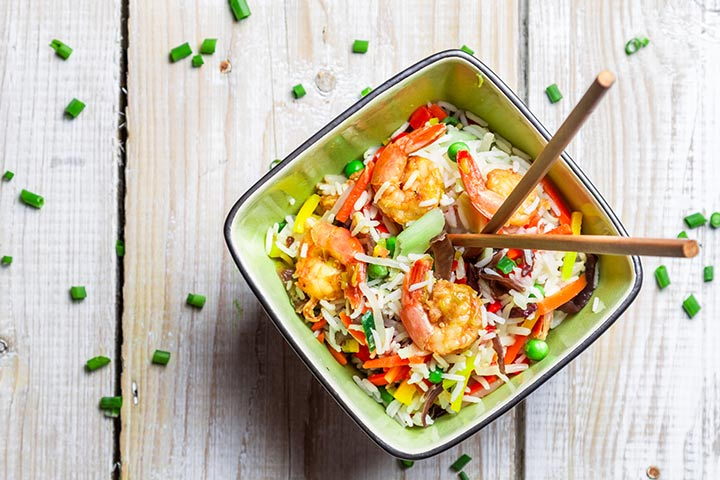 Healthy Snacks For Teens - Shrimp And Rice